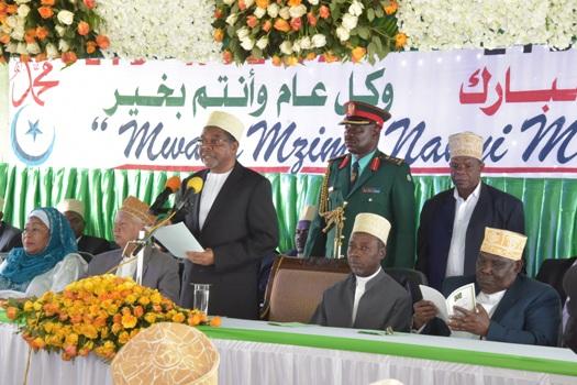 Rais wa Zanzibar na Mwenyekiti wa Baraza la Mapinduzi Alhaj DK.Ali Mohamed Shein,